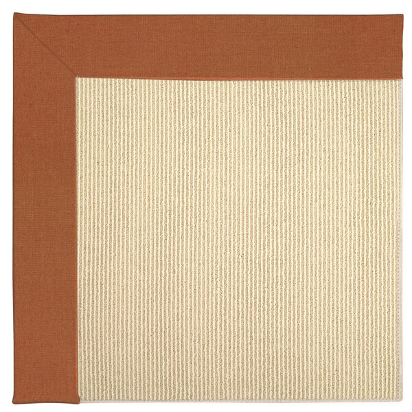 Lisle Machine Tufted Russett/Beige Indoor/Outdoor Area Rug by Longshore Tides