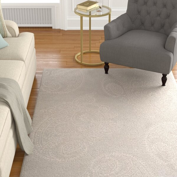Shillington Hand-Tufted Silver/Beige Area Rug by Darby Home Co