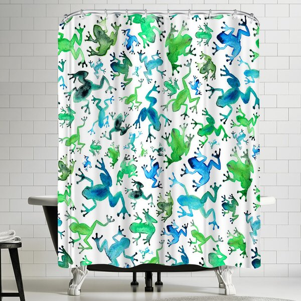 Elena Oneill Tree Frogs Shower Curtain by East Urban Home