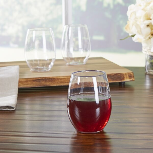 Wayfair Basics Plastic Stemless 12 oz Wine Glass (Set of 64) by Wayfair Basics™