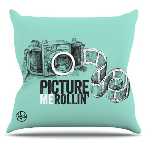 Picture Me Rollin Outdoor Throw Pillow by East Urban Home