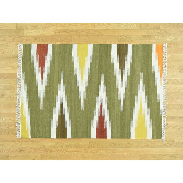 One-of-a-Kind Bessey Dazzling Handmade Kilim Wool Area Rug by Isabelline