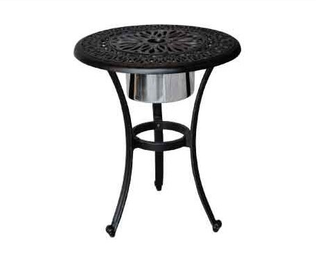Kristy Side Table with Ice Bucket by Darby Home Co