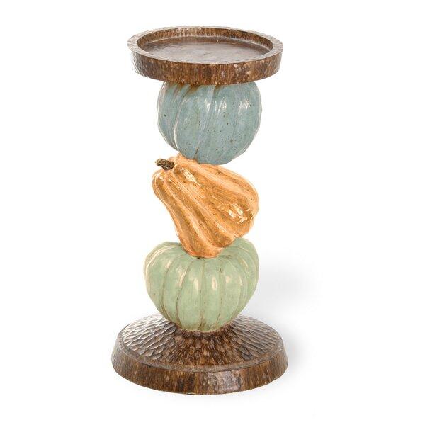 Harvest Dolls Pumpkin Pillar Figurine by The Holiday Aisle