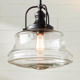 Buy clear Nadine 1-Light Schoolhouse Pendant By Laurel Foundry Modern Farmhouse