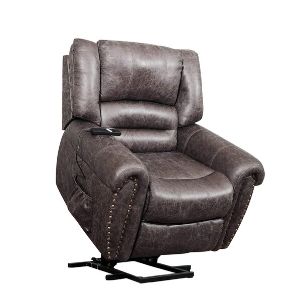 Gattilier Faux Leather Power Swivel Recliner W002125861