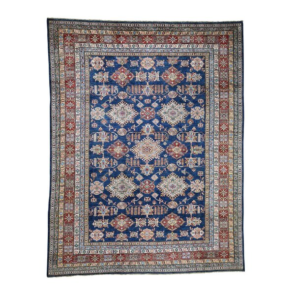 One-of-a-Kind Espada Super Tribal Oriental Hand-Knotted Blue Area Rug by Millwood Pines