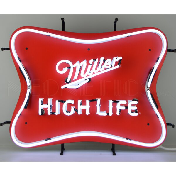 Miller High Life Beer Neon Wall Light by Neonetics