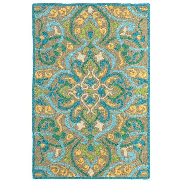 Morocco Aqua Indoor/Outdoor Area Rug by CompanyC