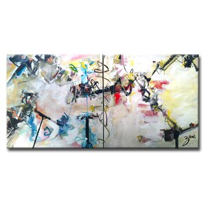 Abstract XIII Framed Painting Print on Wrapped Canvas by Latitude Run