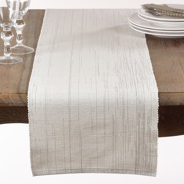 Mattison Ribbed Table Runner by Gracie Oaks