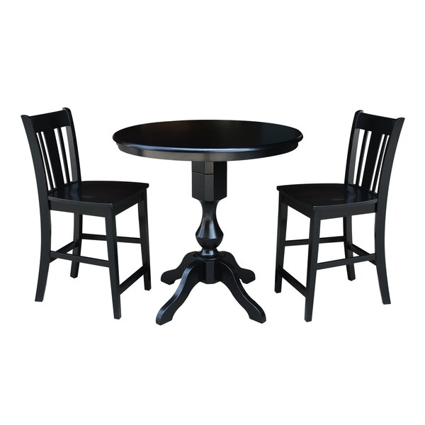 Reichel Round Top Counter Height 3 Piece Pub Table Set by Canora Grey