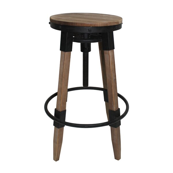 Adjustable Height Swivel Bar Stool by Williston Forge