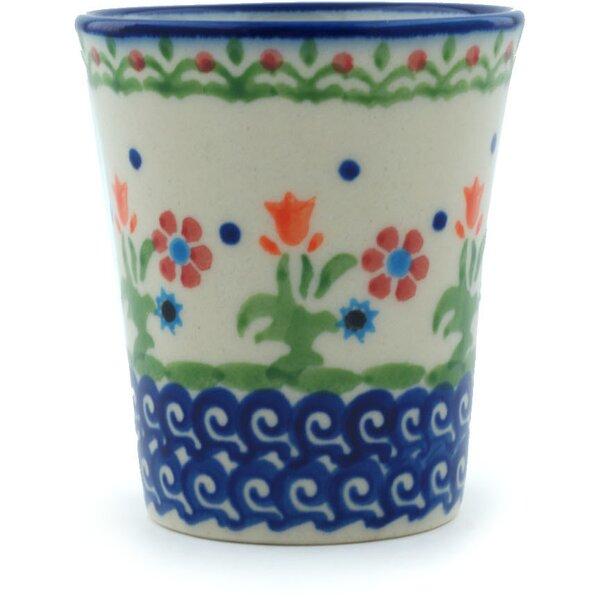 Spring Flowers 5 oz. Ceramic Every Day Glasses by Polmedia