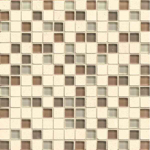 Concord 0.75 x 0.75 Stone and Glass Mosaic Tile in Amity by Grayson Martin