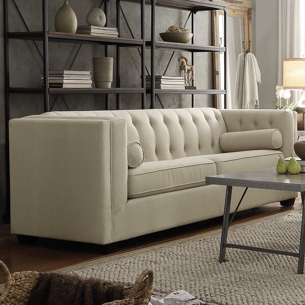 In Vogue McDougal Modern Chesterfield Loveseat by Three Posts by Three Posts