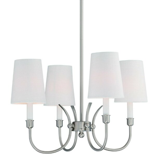 Potvin 4-Light Shaded Classic / Traditional Chandelier by Charlton Home Charlton Home