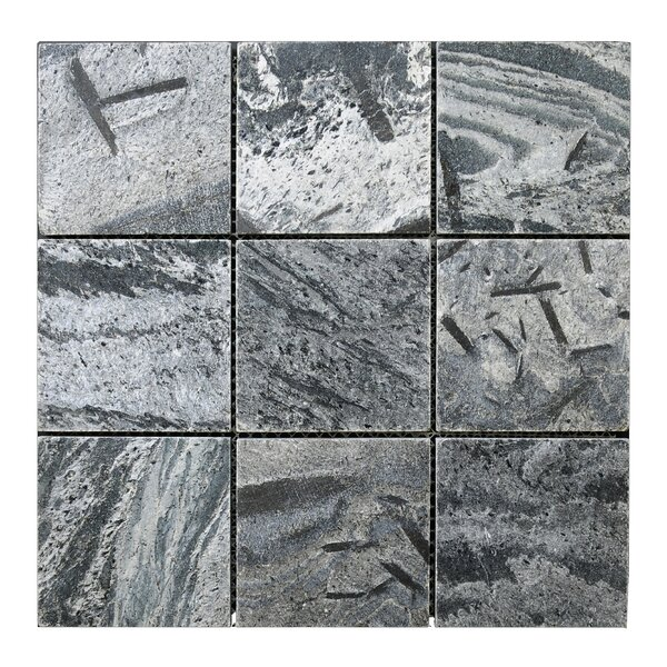 Quartize 12 x 12 Natural Stone Mosaic Tile in Silver by Pebble Tile