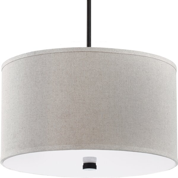 Jon 3-Light Shade Drum Chandelier by Langley Street