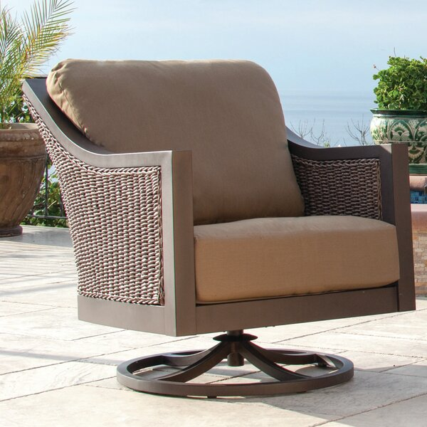 Biscarta Patio Chair with Cushion (Set of 2) by Rosalind Wheeler Rosalind Wheeler