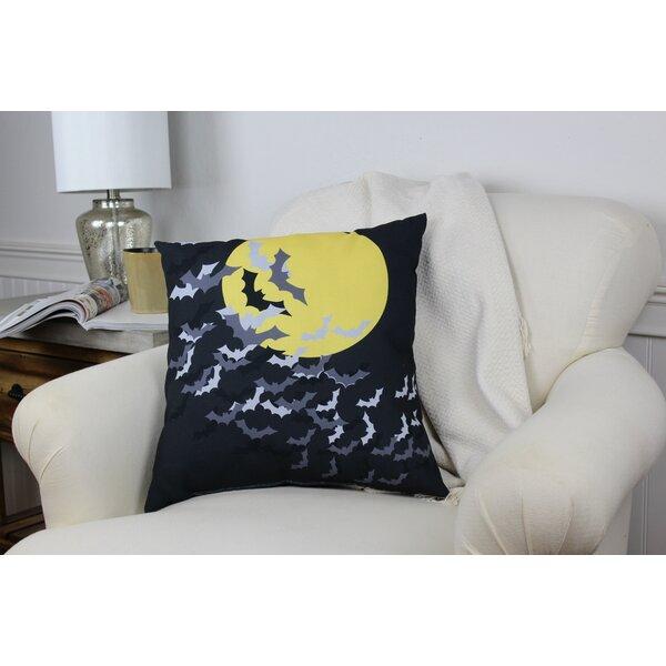 Flock of Bats Moon Throw Pillow by One Bella Casa