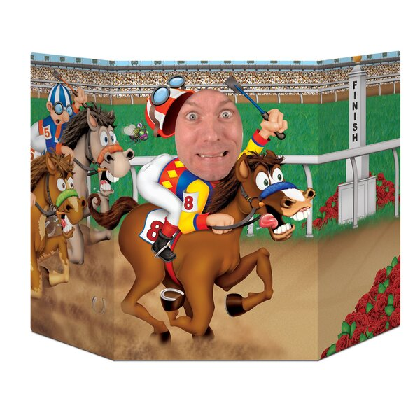 Horse Racing Photo Prop Standup by The Beistle Company