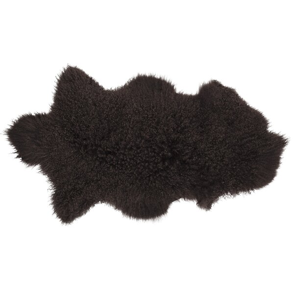 Willenhall Sheepskin Brown Area Rug by House of Hampton