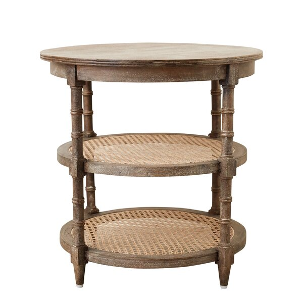 Belgrade Truck Ship Round Wood Console Table by Rosecliff Heights