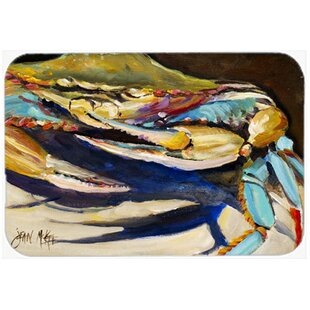 Crab to Crab Glass Cutting Board ByEast Urban Home