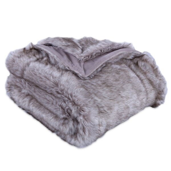 Avalon Faux Fur Throw by Eider & Ivory