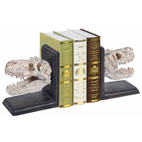 Dinosaur Bookends (Set of 2) by Welland LLC
