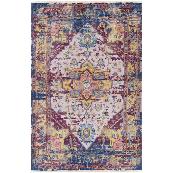 Makenna Hand-Knotted Eggplant/Lilac Area Rug by Bungalow Rose