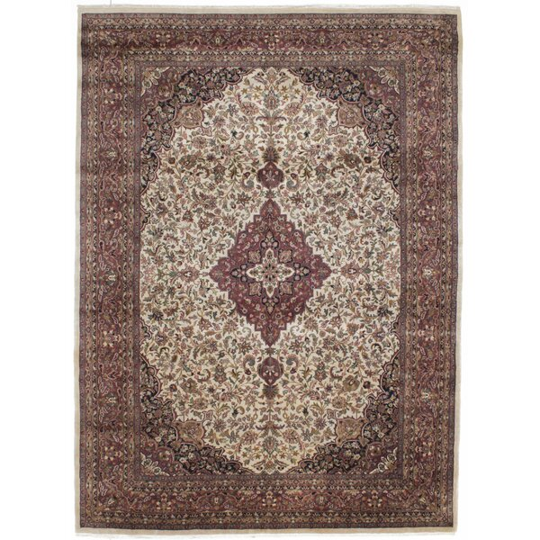 One-of-a-Kind Bluford Hand-Knotted Ivory Area Rug by Astoria Grand