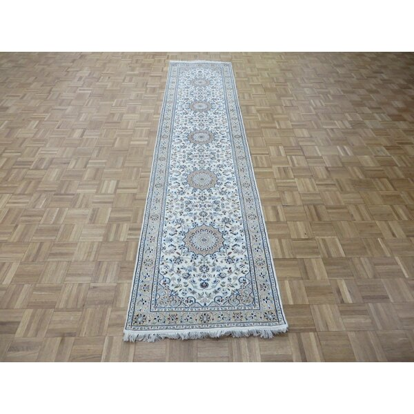 One-of-a-Kind Padro Nain Hand-Knotted Wool Ivory Area Rug by Bloomsbury Market