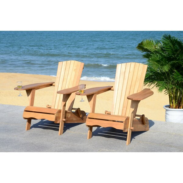 Boonville Solid Wood 2 Adirondack Chair (Set of 2) by Highland Dunes Highland Dunes