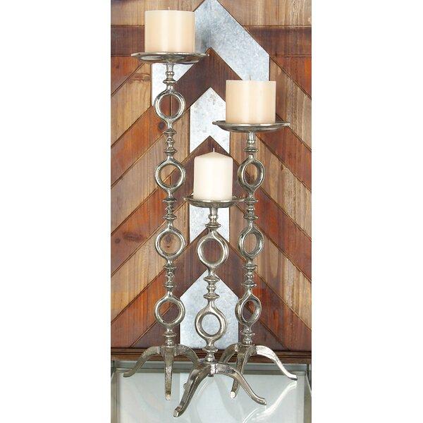 3 Piece Aluminum Candlestick Set by Cole & Grey