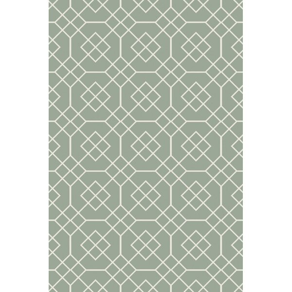 Amenia Sea Foam Geometric Rug by Darby Home Co