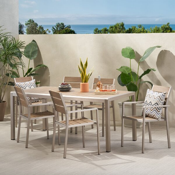 Lindley Coral 7 Piece Dining Set by Ivy Bronx