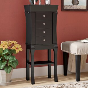 Baker Free Standing Jewelry Armoire With Mirror