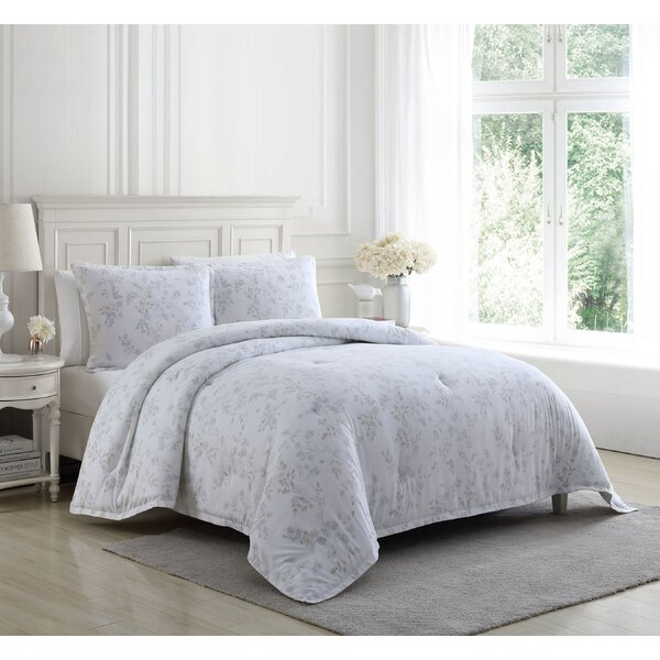 Laura Ashley Fawna Flannel Comforter Set, Full/Queen