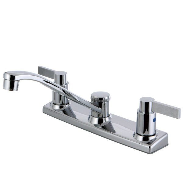 NuvofusionDouble Handle Kitchen Faucet with Side Spray by Kingston Brass
