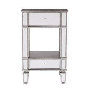Great Price Netherby Mirrored End Table by House of Hampton