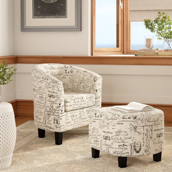 Fitzwater Barrel Chair and Ottoman by Winston Porter Winston Porter