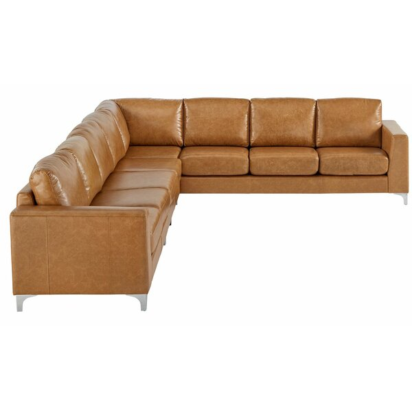 Barraza Aniline Right Hand Facing Sectional by Wade Logan