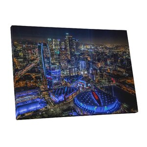 City Skylines Los Angeles Downtown Photographic Print on Wrapped Canvas by Pingo World