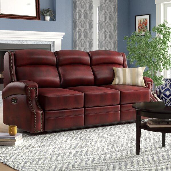 Carlisle Leather Sofa by Hooker Furniture