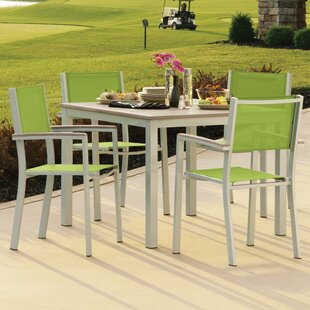 Farmington 5 Piece Dining Set with Stackable Chairs By Latitude Run