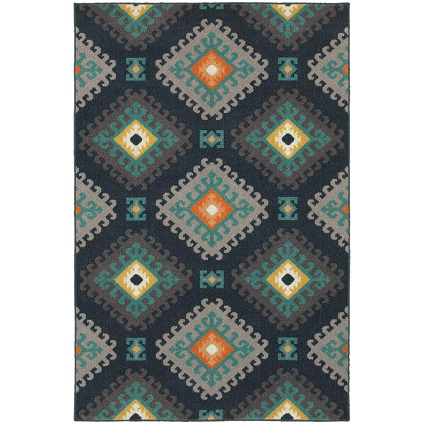Indian Hills Navy/Grey Area Rug by Loon Peak