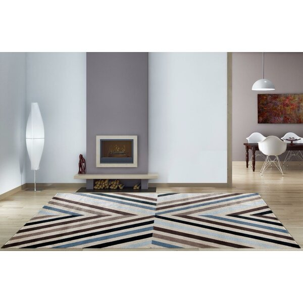 Bennet Blue/Brown Indoor/Outdoor Area Rug by Latitude Run