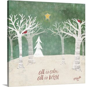 Christmas Art Christmas Trees by Katie Doucette Graphic Art on Wrapped Canvas